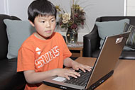 boy at laptop